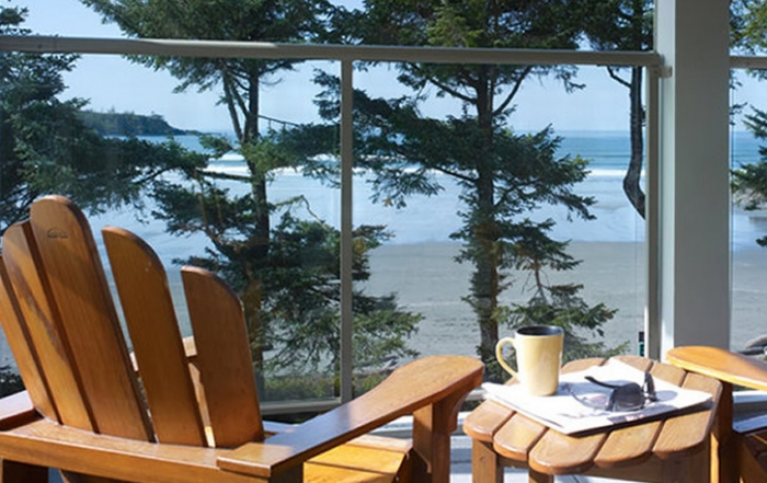 Pacific Sands Beach Resort, the ultimate in deluxe beachfront accommodation in Tofino on Vancouver Island, British Columbia, Canada