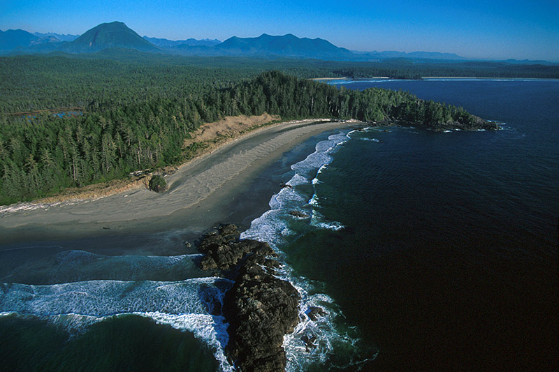 The Pacific Rim shoreline on the West Coast of Vancouver Island, British Columbia