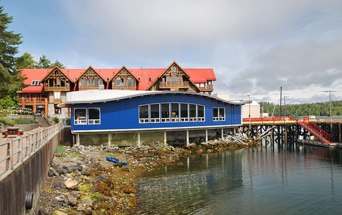 Ucluelet Aquarium on the promenade on Ucluelet Harbour, Vancouver Island, British Columbia