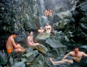 Relaxing soak at Hot Springs Cove, Vancouver Island. Photo: West Coast, Aquatic Safaris, Tofino