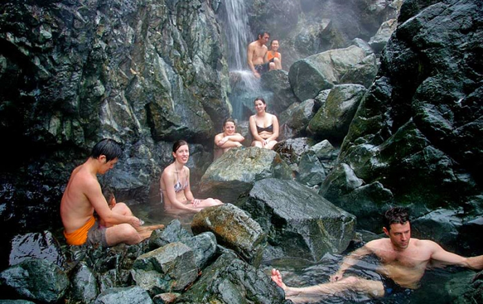 Relaxing soak at Hot Springs Cove, Vancouver Island. Photo: West Coast, Aquatic Safaris, Tofino