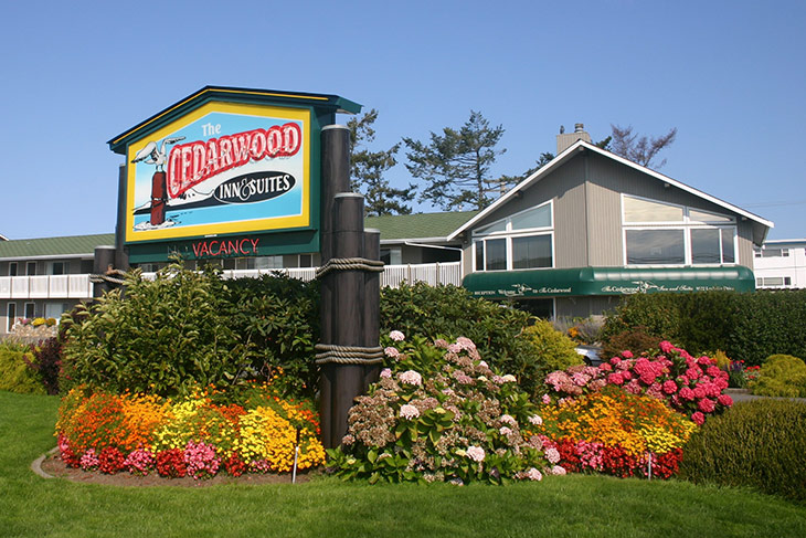 Cedarwood Inn & Suites, Sidney, Greater Victoria, Vancouver Island, British Columbia.