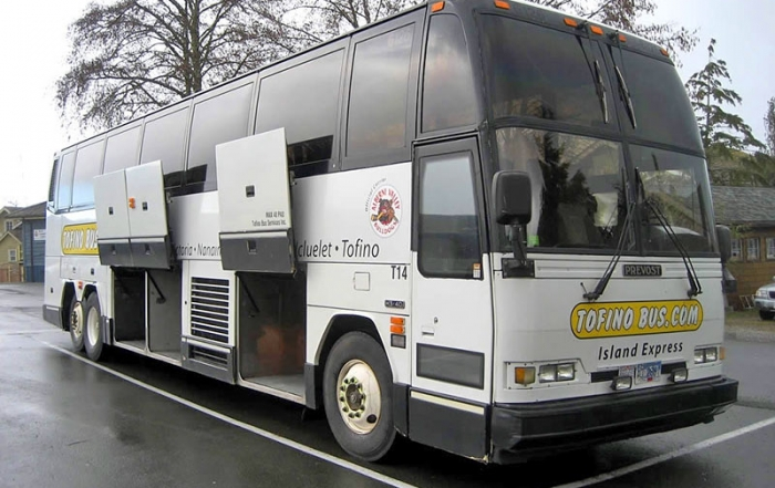 Tofino Bus expands Island Express bus service on Vancouver Island, British Columbia, Canada