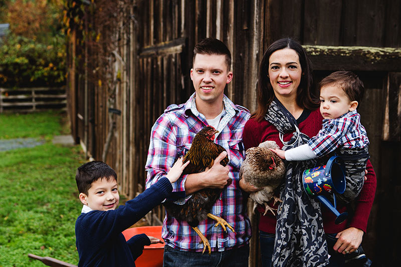 Chicken and Bee Rentals soon for Victoria Backyard Farmers, Bees Please Farms Victoria, Vancouver Island, British Columbia. Mike and Kate Fraser and their two sons.