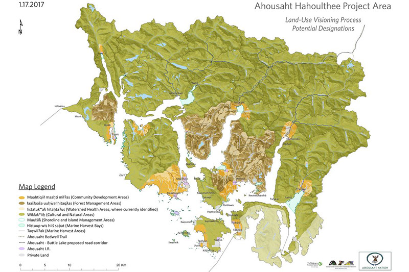 Clayoquot Sound lands to be Protected by Ahousaht First Nation, Vancouver Island, British Columbia