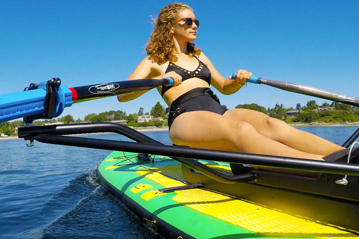 Oar Board® Rower and inflatable SUP, Whitehall Rowing and Sail, Rowing, Standup Paddle Board, Vancouver Island, BC, Canada