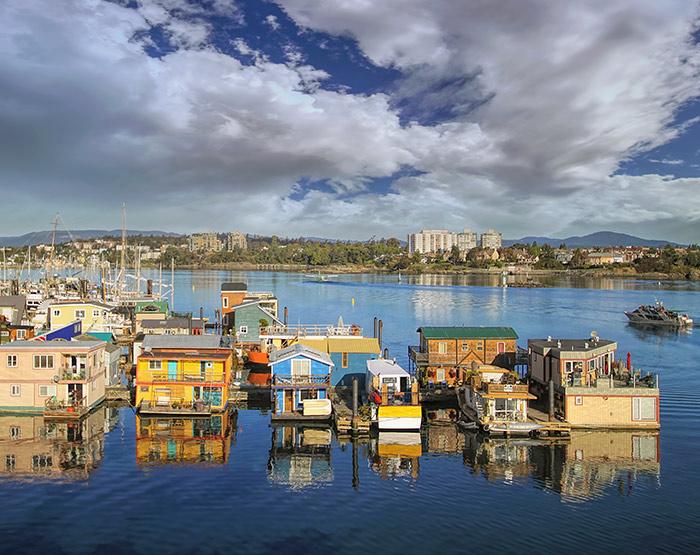 Fisherman's Wharf, Victoria, Vancouver Island British Columbia, Canada
