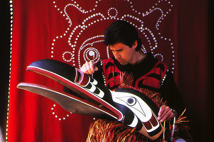 Kwagiulth Mask, Randy Bell, British Columbia
