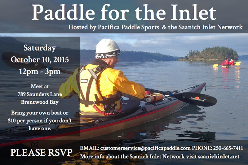 Paddle for the Inlet, with Adam Olsen and the Saanich Inlet Network, Bamberton, Malahat, Victoria, Vancouver Island, British Columbia
