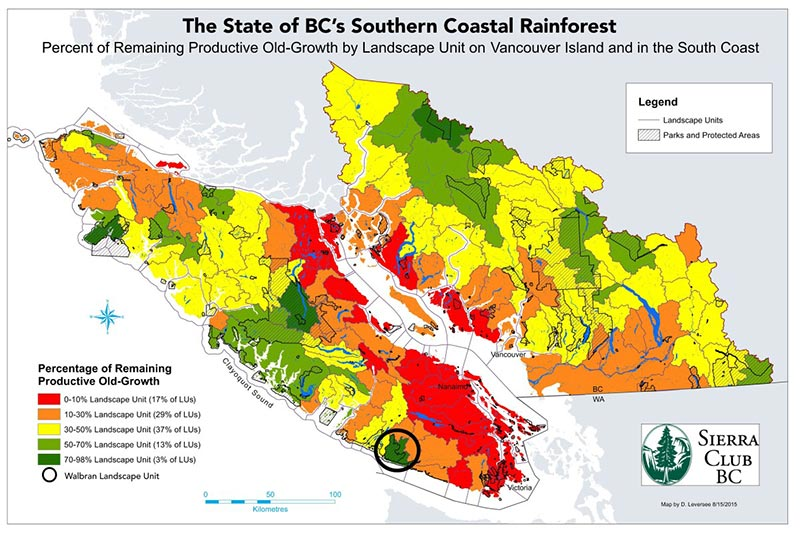 Why Vancouver Island's Walbran Valley rainforest matters: British Columbia, Canada. State of BC's Southern Coastal Rainforest, Sierra Club BC.
