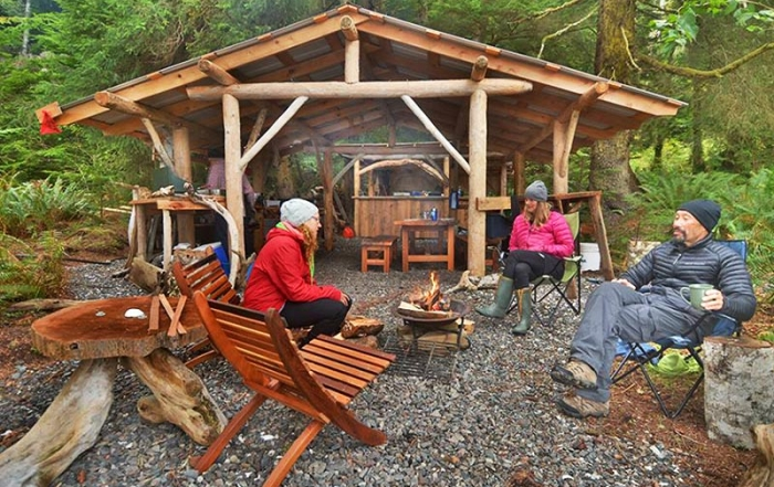 Base Camp Kitchen: Orca Dreams offers kayaking, whale watching and luxury camping on Compton Island, Blackney Pass, British Columbia