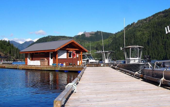 Marina at Moutcha Bay Resort, Nootka Sound, Vancouver Island, British Columbia