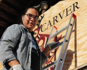 BC People: First Nations Master Carver Sanford Williams, Yuquot, Vancouver Island, British Columbia