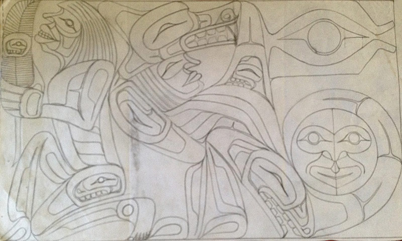 Transformation Mural by Master Carver Sanford Williams at Strathcona Park Lodge